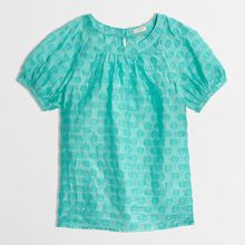 J.Crew Factory Jacquard Top in Dot - Lyst