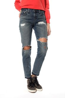 Levi's Vintage Clothing Custom 505 Ripped and Repair Jeans - Lyst