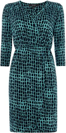 Therapy Square Print Jersey Wrap Dress - Lyst