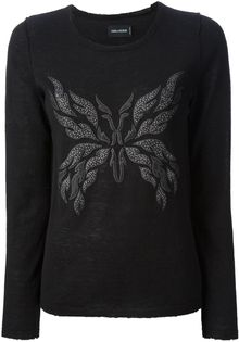 Zadig & Voltaire Beaded Embroidery Sweater - Lyst