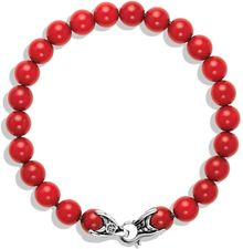 David Yurman Spiritual Beads Bracelet with Coral - Lyst