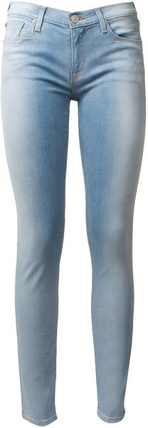 Hudson Shiny Aspect Light Blue Slim Denim - Lyst
