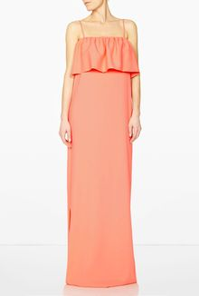 MSGM Pink Ruffle Maxi Dress - Lyst