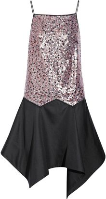 Vionnet Sequined Silkblend Dress - Lyst