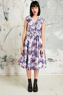 House Of Holland Alcy Print Dress in Lilac - Lyst