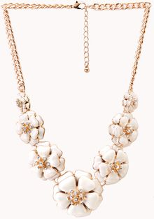 Forever 21 Sweet Floral Bib Necklace - Lyst