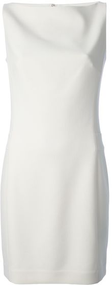 Ralph Lauren Black Label Sleeveless Shift Dress - Lyst