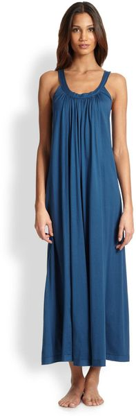 Donna Karan New York Long Cotton Gown - Lyst
