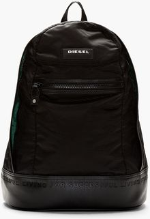 Diesel Black Pvc New Ride Backpack - Lyst