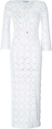 Melissa Odabash Cotton Crochet Cara Maxi Dress - Lyst