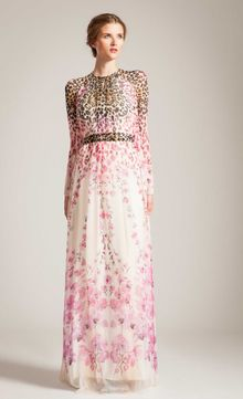Temperley London Long Orchidea Bow Dress - Lyst