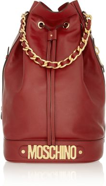 Moschino Oversized Leather Bucket Bag - Lyst