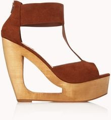 Forever 21 Retro Cutout Wedges - Lyst