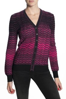 M Missoni Long Sleeve Cardigan Sweater - Lyst