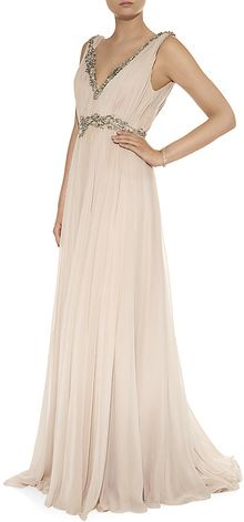Marchesa Embellished Filigree Gown - Lyst