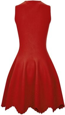 Alexander McQueen Embossed Sangallo Flared Dress - Lyst