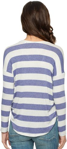 Splendid Stripe Drapey Lux V-Neck Top - Lyst