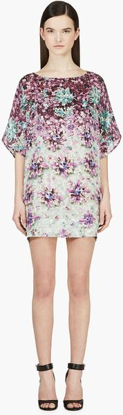 Mary Katrantzou Purple and Green Silk Diaby Ponker Kaftan Blouse - Lyst
