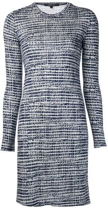 Derek Lam Tweed Jersey Dress - Lyst