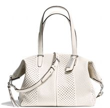 Coach Bleecker Cooper Satchel in Perforated Leather - Lyst