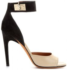 Givenchy Leather and Suede Sandals - Lyst