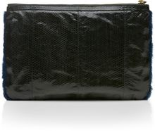 Pierre Hardy Blue Mink And Watersnake Clutch - Lyst