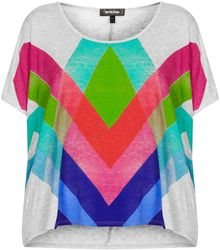 Topshop Printed Tee By Workshop - Lyst