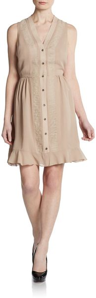 Sachin & Babi June Silk Rufflehem Dress - Lyst