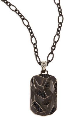 John Hardy Classic Chain Lava Dog Tag Chain Necklace Silver - Lyst