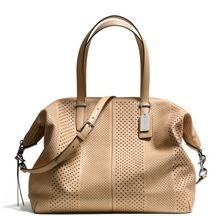 Coach Bleecker Large Cooper Satchel in Perforated Leather - Lyst