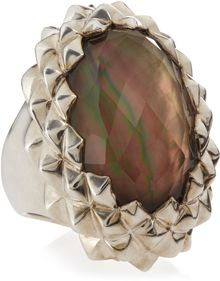 Stephen Webster Studded Oval Motherofpearl Ring Size 7 - Lyst