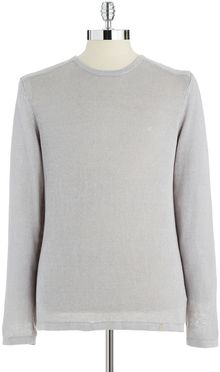 Calvin Klein Long Sleeved Crew Neck Sweater - Lyst
