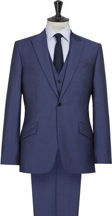 Reiss Granville Three Piece Navy Suit - Lyst