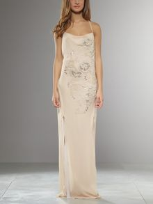 Patrizia Pepe Embroidered Long Dress - Lyst