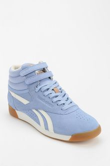 Reebok Freestyle Suede Hightop Sneaker - Lyst