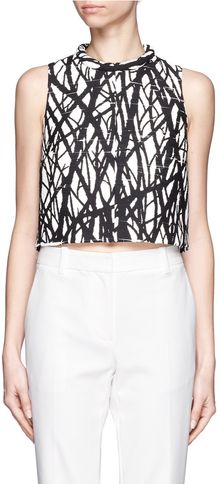 Proenza Schouler Tree Print Crop Top - Lyst