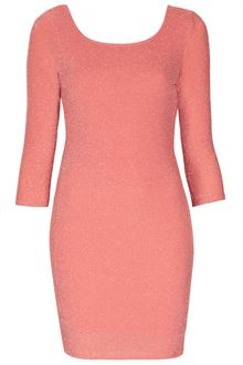Topshop Lurex Scoop Back Bodycon - Lyst