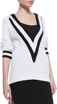 Rag & Bone Talia Plunging Vneck Ribbed Sweater - Lyst