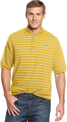 Lacoste Shortsleeved Striped Pique Polo - Lyst
