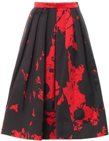 Tibi Splash Print Silk Skirt - Lyst