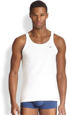 Diesel Logo Stretch Cotton Tank Top - Lyst