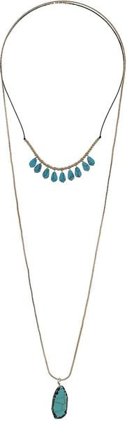 Topshop Semiprecious Stone Necklaces - Lyst