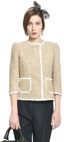 RED Valentino Lurex Tweed Jacket - Lyst