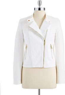 Michael by Michael Kors Mixed Media Moto Jacket - Lyst