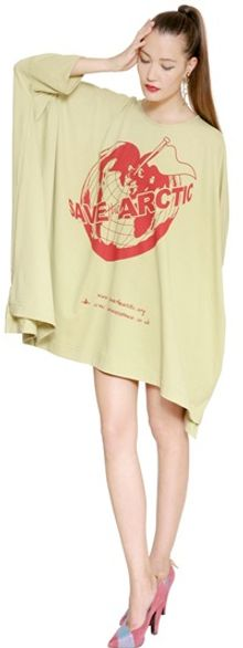 Vivienne Westwood Anglomania Save The Arctic Jersey Oversized Dress - Lyst