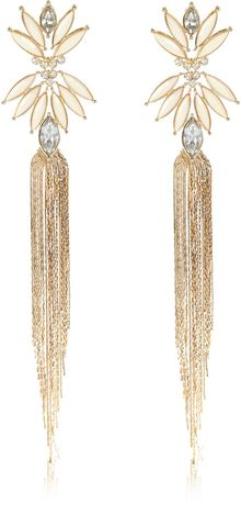 River Island Gold Tone Chain Tassel Drop Earrings - Lyst