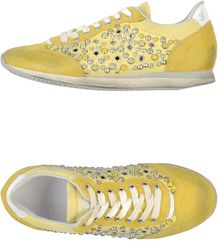 Leather Crown Sneakers - Lyst