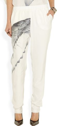 Prabal Gurung Printed Silkcharmeuse Pants - Lyst