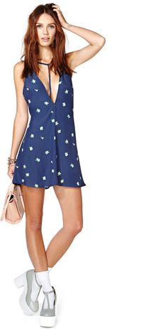 Nasty Gal After Party Vintage Garden Lines Dress - Lyst
