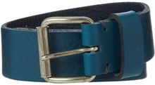 Linea Soft Leather Teal Belt - Lyst